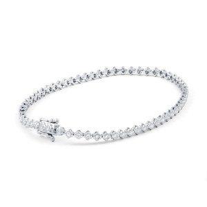 Ladies bracelet 2.40 carats round cut small diamon